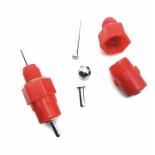 """Mellbimbó AGROFORTEL, műanyag, piros, 1/8 """", 3 mm -es mellbimbó"""