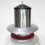AGROFORTEL horganyzott tubusos etető- 18 kg- függesztővel