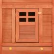 IBIZA kültéri nagyméretű nyúlketrec/kisállatketrec két házikóval, 2500x1920x1050mm