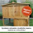 VIMPERK fa kültéri nyúlketrec, 1060x530x910 mm
