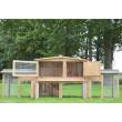 SUSICE fa kültéri nyúlketrec, 2480x520x900 mm