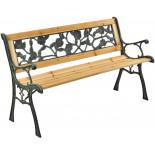 BETA kerti pad - fém faborítással, 122 x 54 x 73 cm