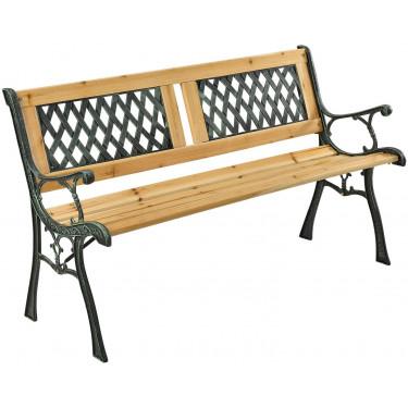 EPSILON kerti pad - fém faborítással, 122 x 54 x 73 cm