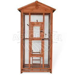 Madárház - L méret - tömör fából, 83 x 60 x 160 cm
