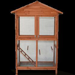 Madárház - XL méret - tömör fából, 122 x 60 x 177 cm