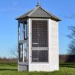 Luxus madárház  - BRECLAV - tömör fából, 100x100x183 cm