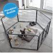 Karám kutyák és egyéb állatok részére - L méret - 8 szegmens, magasság 100 cm