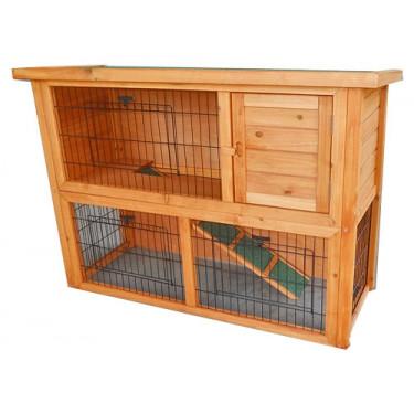 SYDNEY kültéri fa nyúlketrec kisállatok számára 1 ajtóval, 1115x450x803 mm
