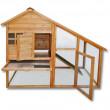 ALBERTA fa kültéri nyúlketrec,1402x660x1200 mm
