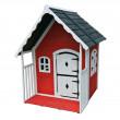 Vörös tetős gyermek faház, 115 x 125 x 140 cm