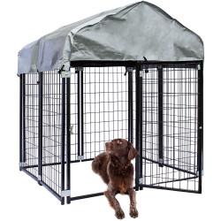Kültéri kutyaház BAX - bekerített karám - 121x121x137 cm