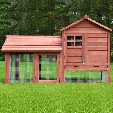 BEROUN fa kültéri nyúlketrec, 1560x880x980 mm